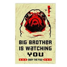 PUG- Big Brother Postcards (Package of 8)