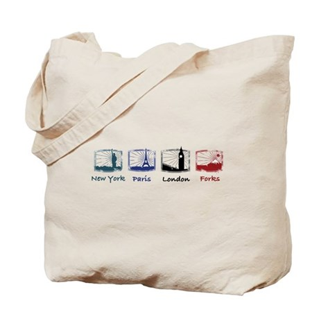 New York, Paris, London, FORK Tote Bag