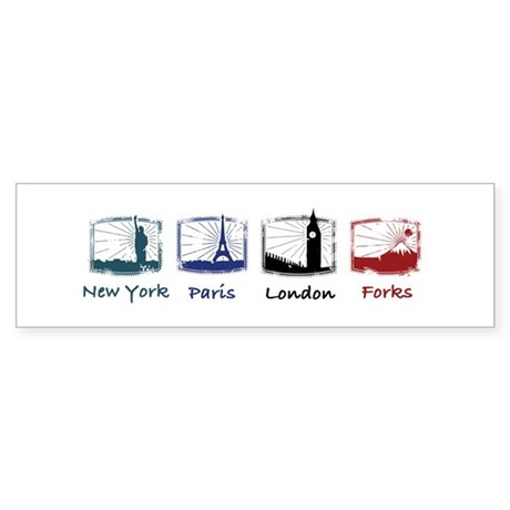 New York, Paris, London, FORK Bumper Sticker