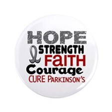 "HOPE Parkinson's Disease 3 3.5"" Button (100 pack)"