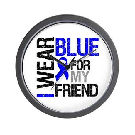 I Wear Blue Friend Wall Clock