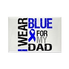 I Wear Blue Dad Rectangle Magnet