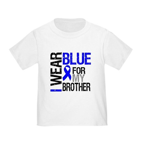 I Wear Blue Brother Toddler T-Shirt