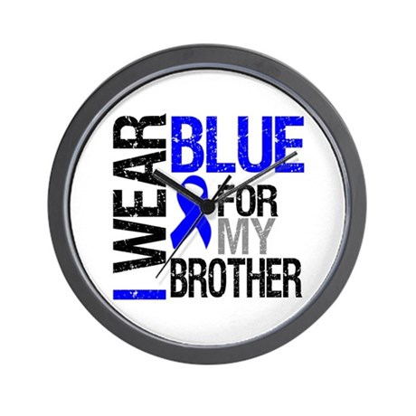 I Wear Blue Brother Wall Clock