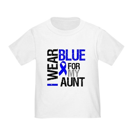 I Wear Blue Aunt Toddler T-Shirt