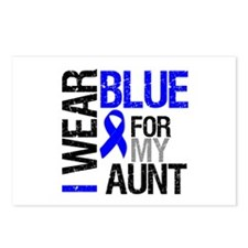 I Wear Blue Aunt Postcards (Package of 8)