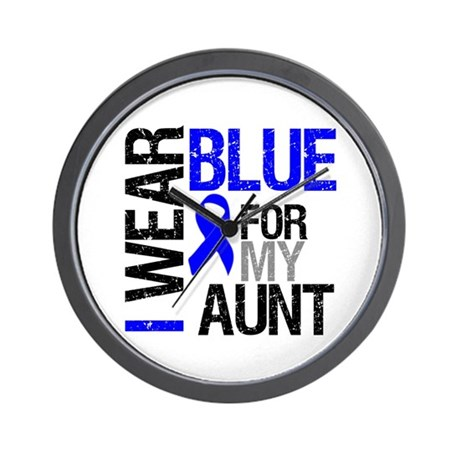 I Wear Blue Aunt Wall Clock