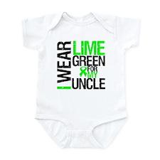 I Wear Lime Green Uncle Infant Bodysuit