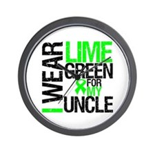 I Wear Lime Green Uncle Wall Clock