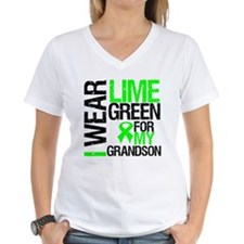 I Wear Lime Green Grandson Shirt