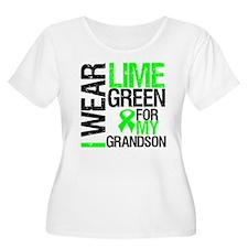I Wear Lime Green Grandson T-Shirt