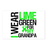 I Wear Lime Green Grandpa Postcards (Package of 8)