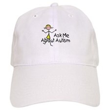 Ask Me About Autism Baseball Cap