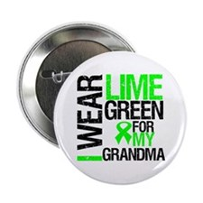 "I Wear Lime Green Grandma 2.25"" Button (10 pack)"