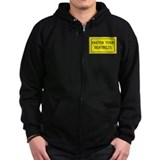 Fasten Your Seatbelts Label Zip Hoody