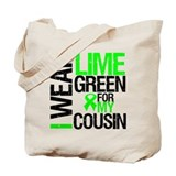 I Wear Lime Green Cousin Tote Bag