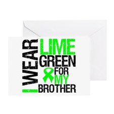 I Wear Lime Green Brother Greeting Card