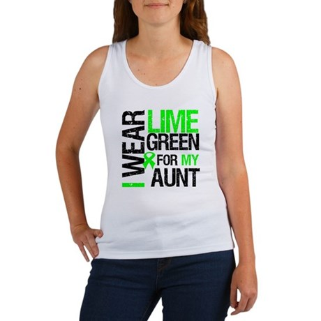 I Wear Lime Green For My Aunt Women's Tank Top