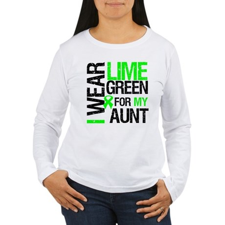 I Wear Lime Green For My Aunt Women's Long Sleeve