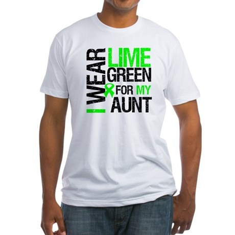 I Wear Lime Green For My Aunt Fitted T-Shirt