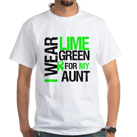 I Wear Lime Green For My Aunt White T-Shirt