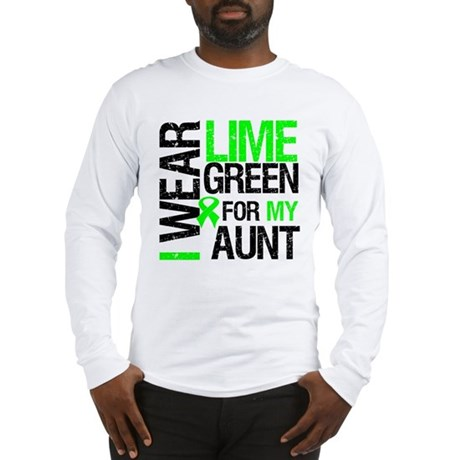 I Wear Lime Green For My Aunt Long Sleeve T-Shirt