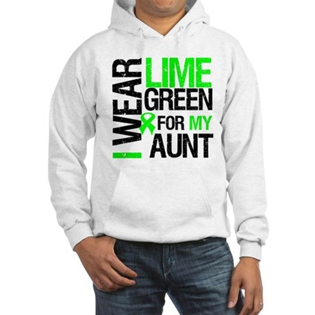 I Wear Lime Green For My Aunt Hooded Sweatshirt