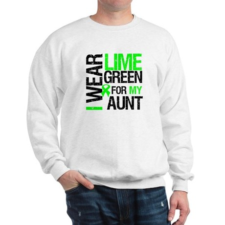 I Wear Lime Green For My Aunt Sweatshirt