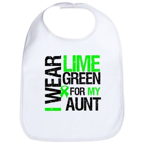 I Wear Lime Green For My Aunt Bib
