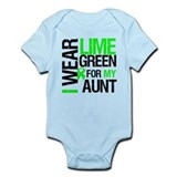 I Wear Lime Green For My Aunt Onesie