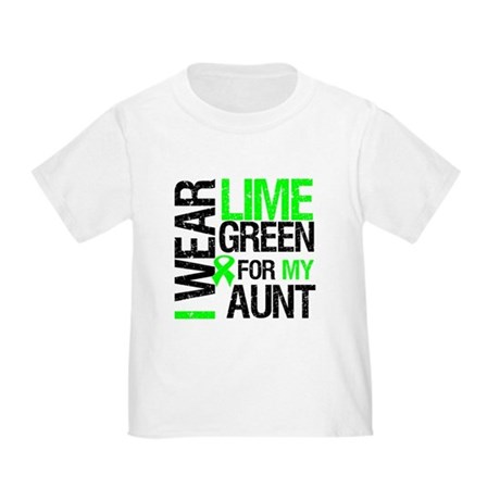 I Wear Lime Green For My Aunt Toddler T-Shi