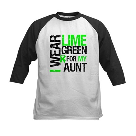 I Wear Lime Green For My Aunt Kids Baseball Jersey