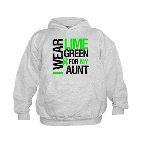 I Wear Lime Green For My Aunt Kids Hoodie