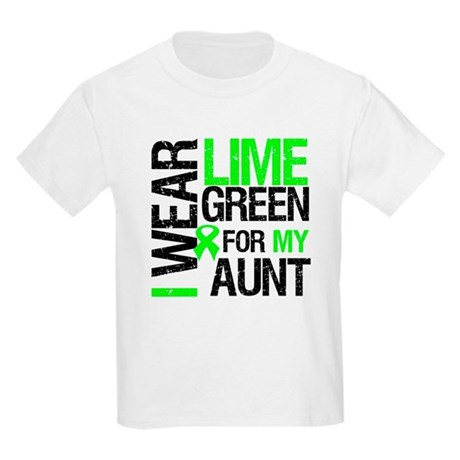 I Wear Lime Green For My Aunt Kids Light T-Shirt
