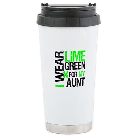 I Wear Lime Green For My Aunt Ceramic Travel Mug