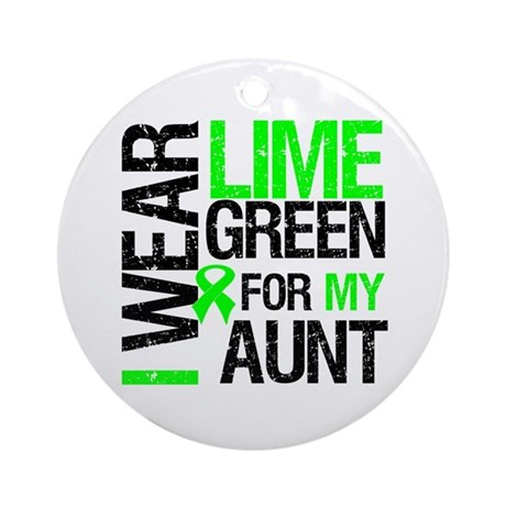 I Wear Lime Green For My Aunt Ornament (Round)