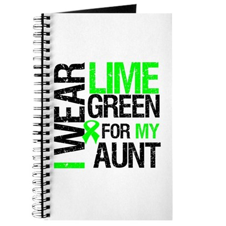 I Wear Lime Green For My Aunt Journal