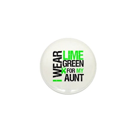 I Wear Lime Green For My Aunt Mini Button (10 pack