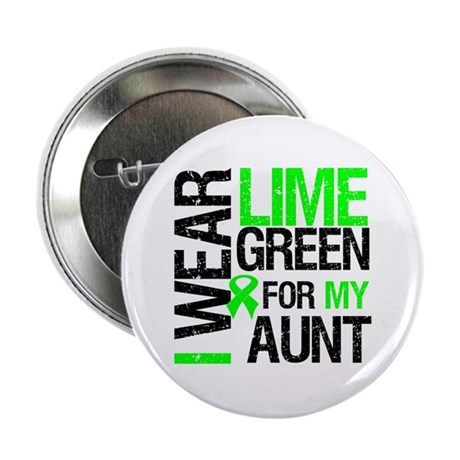 "I Wear Lime Green For My Aunt 2.25"" Button (10 pac"