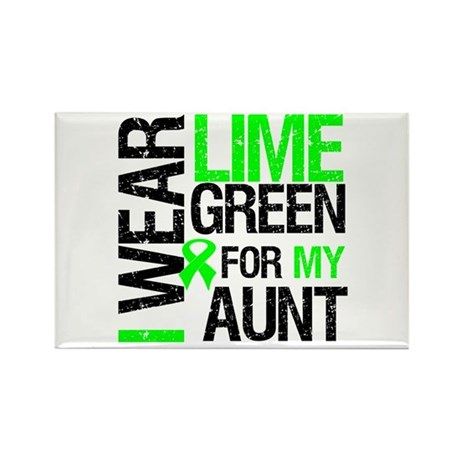 I Wear Lime Green For My Aunt Rectangle Magnet (10