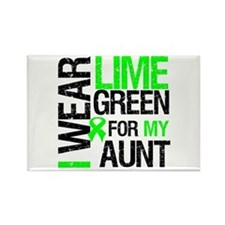 I Wear Lime Green For My Aunt Rectangle Magnet