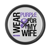 IWearPurple Wife Large Wall Clock