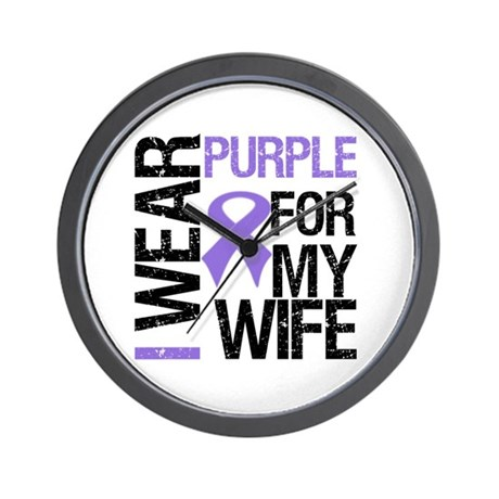 IWearPurple Wife Wall Clock