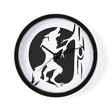Werewolf Logo Wall Clock
