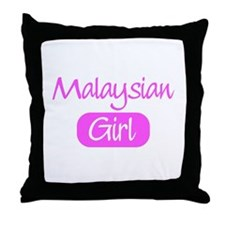 Malaysian girl Throw Pillow