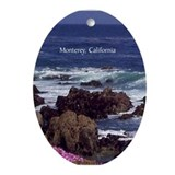 Monterey, California Souvenir Oval Ornament