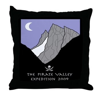 Pirate Valley Expedition Throw Pillow
