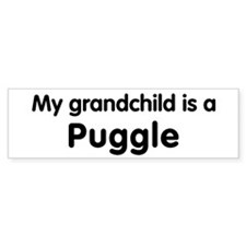 Puggle grandchild Bumper Bumper Sticker