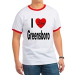 I Love Greensboro Ringer T