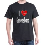 I Love Greensboro (Front) Dark T-Shirt